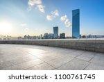 empty marble floor with modern... | Shutterstock . vector #1100761745