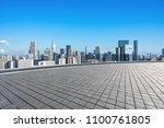 empty marble floor with modern... | Shutterstock . vector #1100761805