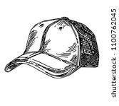 sports accessories. cap.... | Shutterstock .eps vector #1100762045