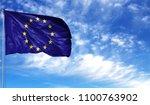 flag of european union on... | Shutterstock . vector #1100763902