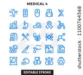 dashed outline icons pack for... | Shutterstock .eps vector #1100764568