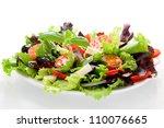 salad from fresh vegetables ... | Shutterstock . vector #110076665