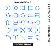 dashed outline icons pack for... | Shutterstock .eps vector #1100767955