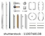 set of modern door handles for... | Shutterstock .eps vector #1100768138