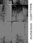 grunge black and white pattern. ... | Shutterstock . vector #1100775998