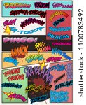 vector comic book onomatopoeia... | Shutterstock .eps vector #1100783492