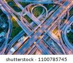 top view of highway road...   Shutterstock . vector #1100785745