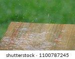 Rainfall At Park Picnic Area...