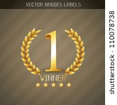 vector no 1 winner golden label | Shutterstock .eps vector #110078738
