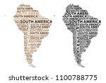 sketch south america letter...   Shutterstock .eps vector #1100788775
