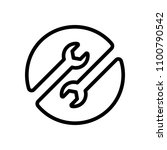 repair service. linear  thin... | Shutterstock .eps vector #1100790542