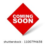 red vector banner coming soon | Shutterstock .eps vector #1100794658