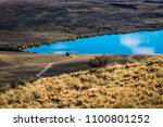 the landscape of the lake with... | Shutterstock . vector #1100801252