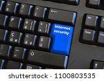 keyboard with internet security ... | Shutterstock . vector #1100803535