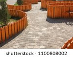 the walking area is... | Shutterstock . vector #1100808002