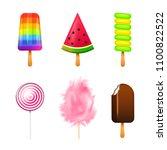 realistic sweet ice cream.... | Shutterstock .eps vector #1100822522
