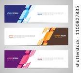 modern banner design. banner... | Shutterstock .eps vector #1100827835