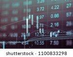 abstract financial stock... | Shutterstock . vector #1100833298
