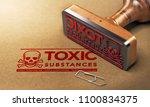 3d illustration of a rubber... | Shutterstock . vector #1100834375