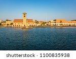 old buildings in mandraki... | Shutterstock . vector #1100835938