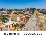 view of city walls and old town ... | Shutterstock . vector #1100837198