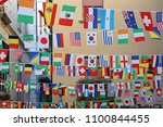 international flags festive... | Shutterstock . vector #1100844455