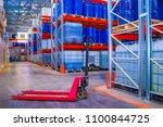 barrels for chemistry. plastic... | Shutterstock . vector #1100844725