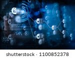 Blockchain Technology Concept...