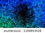 dark blue  green vector polygon ...