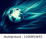best internet concept of global ... | Shutterstock . vector #1100853692