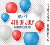 fourth of july greeting card  ... | Shutterstock .eps vector #1100860178