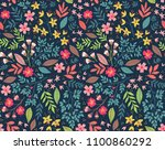 vector seamless pattern. pretty ... | Shutterstock .eps vector #1100860292