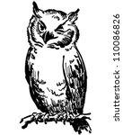 Winking Owl   Retro Clipart...