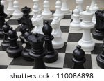Outdoor Chess Board With Big...