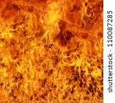 burning fire flame background | Shutterstock . vector #110087285