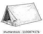 camping tent illustration ...   Shutterstock .eps vector #1100874176