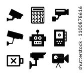 filled technology icon set such ... | Shutterstock .eps vector #1100878616