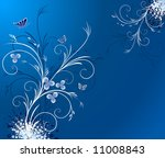 floral blue vector background | Shutterstock .eps vector #11008843