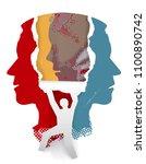 schizophrenia psychiatric... | Shutterstock .eps vector #1100890742