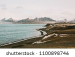 iceland nature. view on sea and ... | Shutterstock . vector #1100898746
