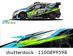 rally car wrap vector designs.... | Shutterstock .eps vector #1100899598