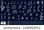 music notes doodles set. ... | Shutterstock .eps vector #1100903912