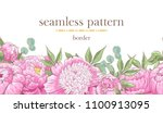 seamless border pattern with... | Shutterstock .eps vector #1100913095