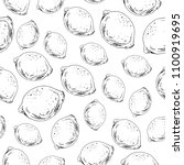 hand drawn seamless pattern.... | Shutterstock .eps vector #1100919695