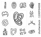 set of 13 simple editable icons ... | Shutterstock .eps vector #1100934008