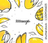 yellow mango background in... | Shutterstock .eps vector #1100934605
