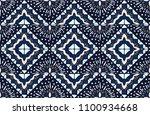 ikat geometric folklore... | Shutterstock .eps vector #1100934668
