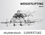 weightlifter of particles.... | Shutterstock .eps vector #1100937182