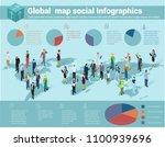 global world isometric map.... | Shutterstock .eps vector #1100939696