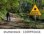 "warning sign ""beware of ticks""... | Shutterstock . vector #1100941616"